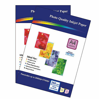 100 Sheets of Double-sided A4 260gsm High Quality Matte Photo Paper for Inkjet