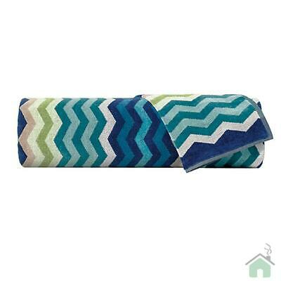 Missoni Home 2 Bath Towels 60x100 cm Pete zig-zag blue NEW