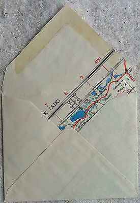 GREAT BRITAIN 1940s COVER MADE FROM RECYCLED MAP OF SCHLESWIG HOLSTEIN AREA