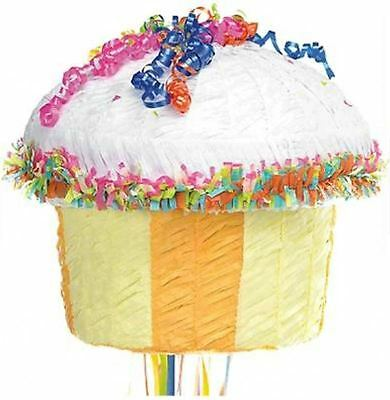 TRADITIONAL CUPCAKE PULL STRING Piñata Birthday Party Game Decoration P14488