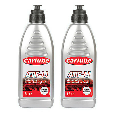 2 x Carlube ATF-U Universal Automatic Transmission Fluid Fully Synthetic 1L
