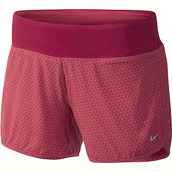 Nike 4inch Rival Printed Ladies Running Shorts - Pink