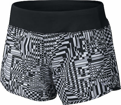 Nike Rival Printed 4 Inch Ladies Running Shorts - Black