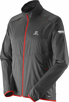 Salomon Agile Mens Running Jacket - Black