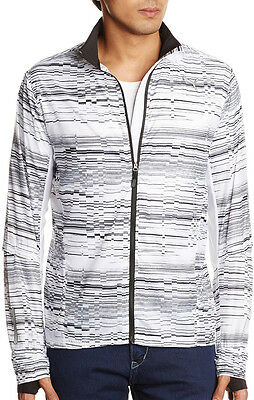 Puma Graphic Lightweight Mens Running Jacket - White