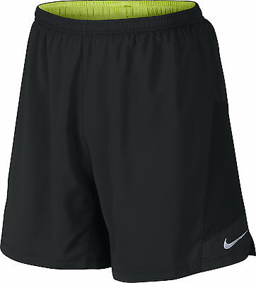 Nike Pursuit 7 Inch 2 in 1 Mens Running Shorts - Black