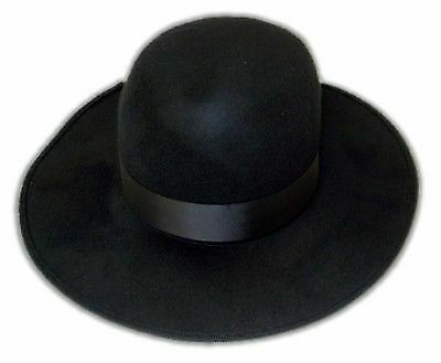 Large Oversized Round Felt Black Hat for Undertaker Costume