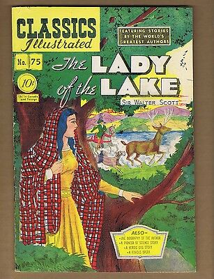 Classics Illustrated 75 (VG-) HRN 75 (O) The Lady of the Lake (c#06201)