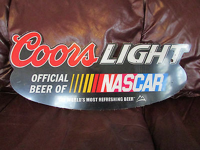 Coors light beer nascar racing 28 x 10 plastic acrylic black coors light beer nascar racing 28 x 10 plastic acrylic black wall sign aloadofball Images