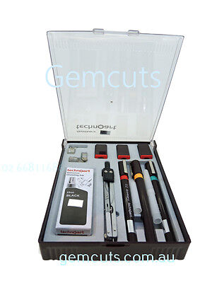 Technical Drawing Pen - Set Of 3 - With Compass And Ink