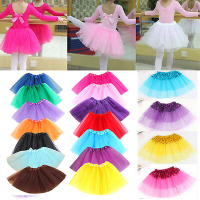 NEWLY Girls Childrens Kid Tutu Dancewear Skirt Dress Up Fancy Party Ballet Dance