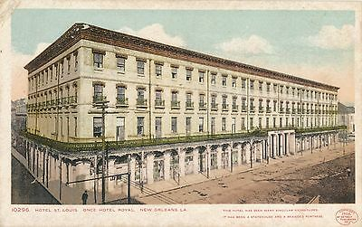 POSTCARD  UNITED  STATES  New  Orleans  Hotel  St  Louis