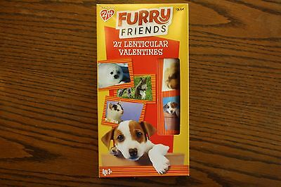 Boxed Furry Friends 27 Lenticular Valentines