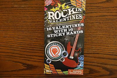 Boxed Rockin Valentines with 16 Cards and 16 Sticky Hands