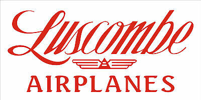 A202 Luscombe Airplane banner hangar garage decor Aircraft signs