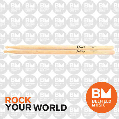 Onstage HW5A Drumsticks 5A Wood Tip Hickory On-Stage Drum Stick OSHW5A
