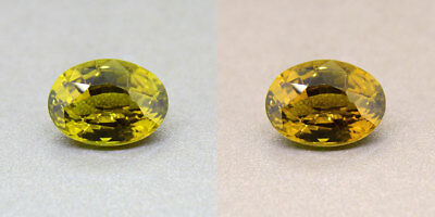 Untreated Ceylon Olive Green Alexandrite  2.88 Ct. Certified (00418/FK8-3180315)