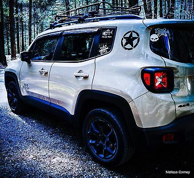 """Jeep Renegade Oscar Mike Star Decal Sticker Vinyl Accessory 8"""" Set See All Pics"""