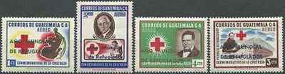 Timbres Croix Rouge Guatemala PA253/6 ** lot 12936