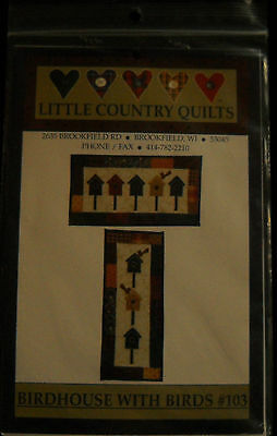 Little Country Quilts Birdhouse with Birds #103 by Kim Schaefer