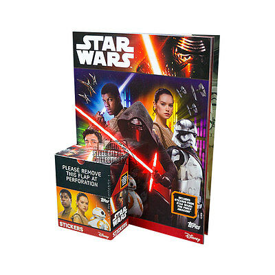 2016 Topps Star Wars The Force Awakens 50ct Sticker Box with Album