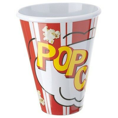BARBACADO Gobelet POPCORN réutilisable_pot à pop corn rouge Verre POPCORN CUP
