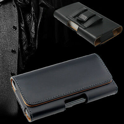 Leather Belt Clip Holster Case Cover For iPhone XS Max 7 8 Plus & Samsung Galaxy