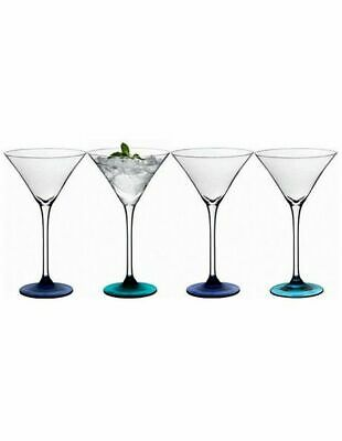 NEW LSA 'Coro' Cocktail Glass 210ml Assorted Set of 4 Green/Blue/Purple