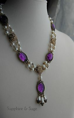 Renaissance Medieval Tudor Game of Thrones Necklace 4 Dress Gown Faire Wedding