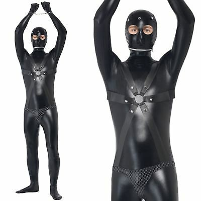 Adults Mens Novelty Bondage Gimp Stag Night Do Funny Fancy Dress Party Costume