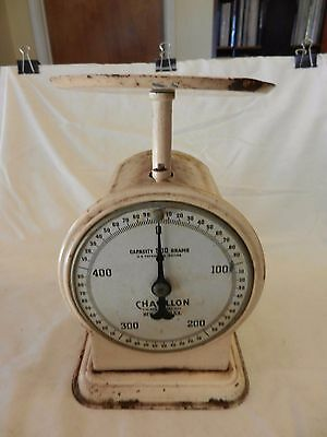 Vintage Chatillon 500 Grams Metal Scale Made in USA
