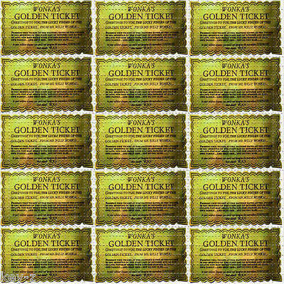GOLDEN TICKET  - perforated sheet BLOTTER ART psychedelic acid free paper