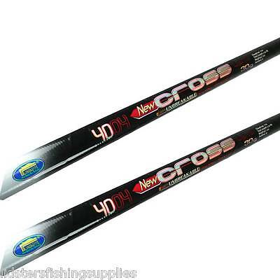 2 x New 4m Fishing Whip Pole Cross Carbon Lineaeffe Poles Coarse Fishing