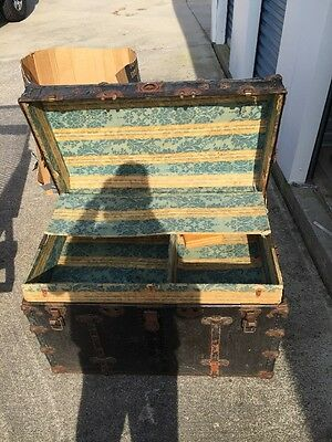 Vintage Early 1900's Steamer Trunk/Train Luggage?  Nice Condition
