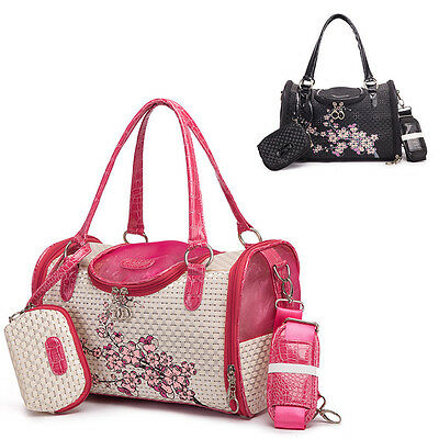 Small Pet Dog Cat Airline Carrier Totes Travel Handbag Portable Outdoor Cage New