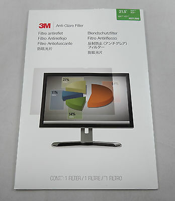 3M Anti-Glare Filter for Widescreen Desktop LCD Monitor 21.5 AG21.5W9