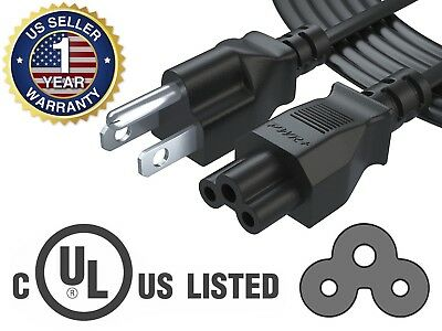 Pwr+ 15Ft 3 Prong AC Cable Power Cord for Dell IBM HP Compaq Asus Laptop Charger