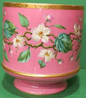 Antique Limoges HP Hand Painted Jardiniere Pink Floral Dogwood