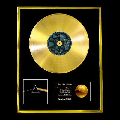 Pink Floyd Dark Side Of The Moon Cd Gold Disc Record Lp  Free P&p!