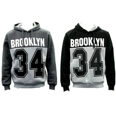 NEW Men's Adult Unisex Hoodie Jumper Pullover Casual Sports - Brooklyn 34