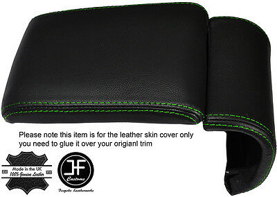 Green Stitching Leather Armrest Cover Fits Alfa Romeo Giulietta 2010-2016