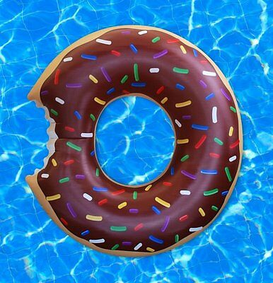 Big Mouth GIANT CHOCOLATE Donut DOUGHNUT Pool Float LARGE INFLATABLES 1.2m 4 Ft