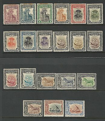 Nyassa: Scott 106-125,large set mint, hinged, rust but high value do not...NYA02
