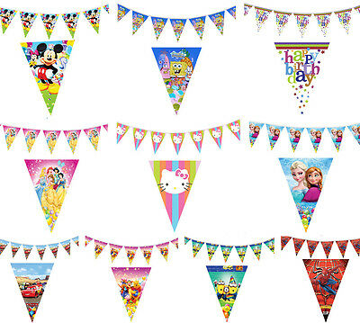 Fun Cute Children Kids Baby Boy Girl Party Flags Banner Bunting Decorations Toy