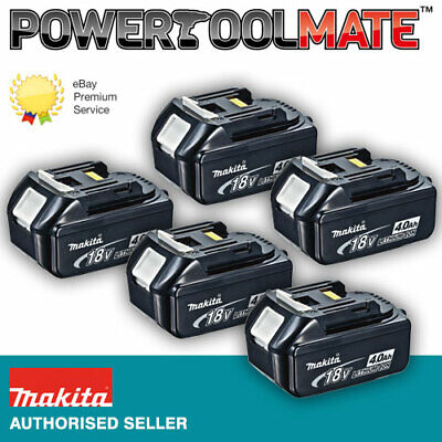 Genuine Makita BL1840 18v 4.0ah LXT Li-ion Battery with Star - FIVE PACK