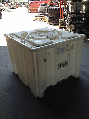 Pharmaceutical Stackable Dry Goods Poly Tank @ 225 gal. locking lid Trap Door