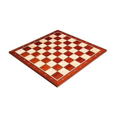 """Padauk & Maple Wooden Chess Board - 2.25"""" With Notation"""