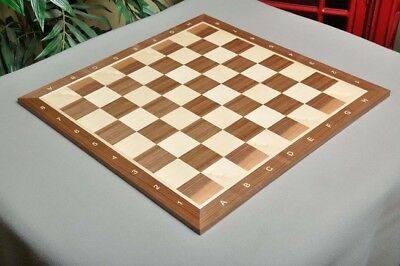 """Walnut & Maple Wooden Chess Board  - 2.5"""" With Notation"""