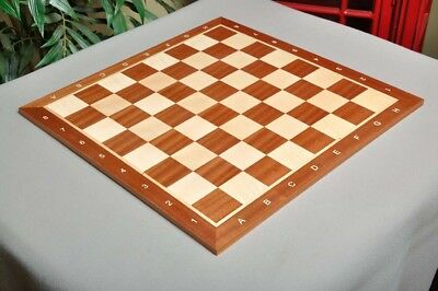 """Mahogany & Maple Wooden Chess Board - 2.0"""" With Notation"""