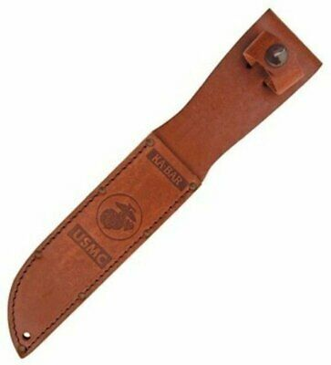 KA-BAR USMC Knife Sheath, Brown Leather #1217S